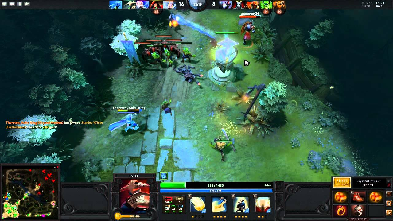 dota 2 full gameplay commentary sven the rogue knight youtube