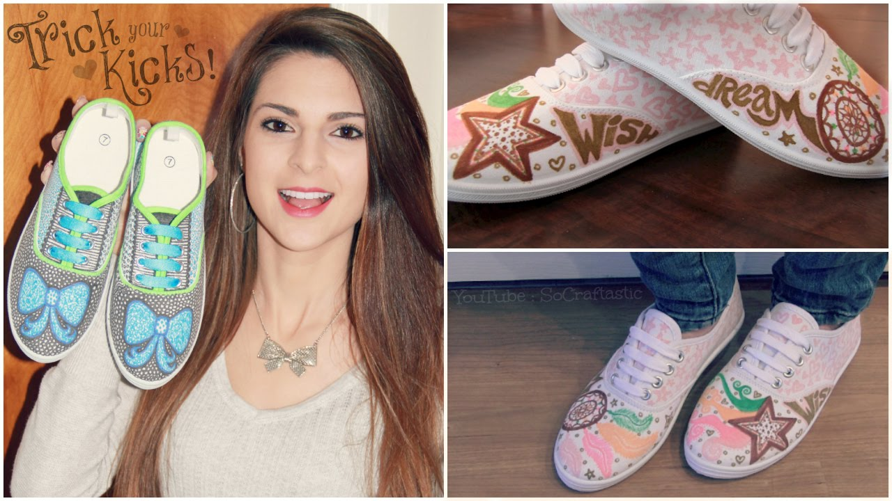 DIY CANVAS SNEAKERS : Bow