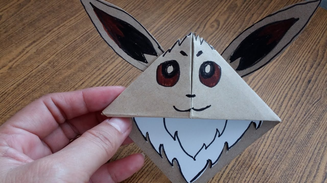 Origami For Kids How To Pokemon Go Eevee You