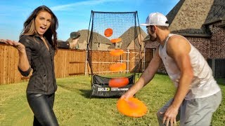 FASTEST FRISBEE THROW [82 MPH!!!] | Brodie & Kelsey