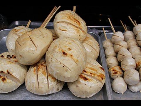 ต้มลูกชิ้นยักษ์ขาย ตลาดสามชุก สุพรรรณบุรี