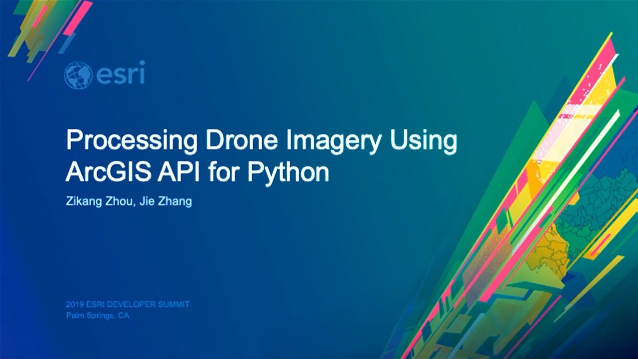 Processing Drone Imagery using the ArcGIS API for Python