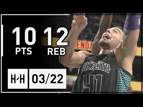 Willy Hernangomez Full Highlights Grizzlies vs Hornets (2018.03.22) - 10 Pts, 12 Reb!