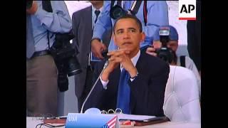 WRAP G8, G5 leaders meet, Ban on climate, reax