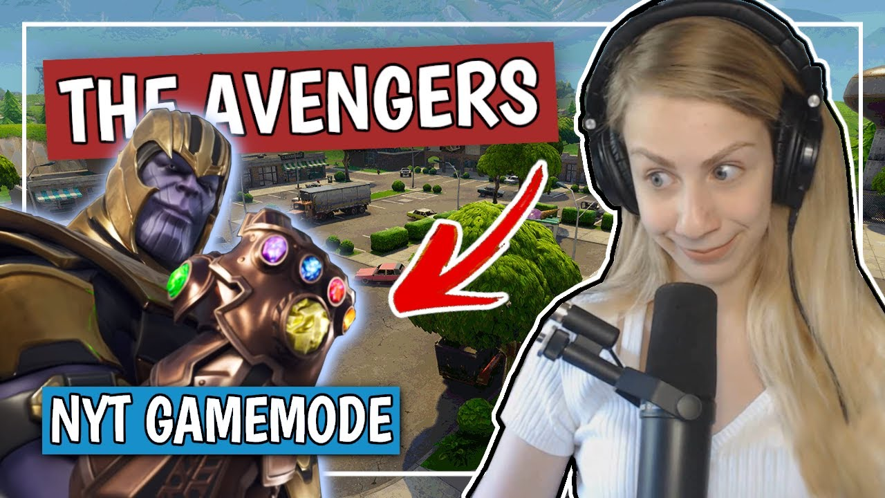 REAGERER PÅ AVENGERS I FORTNITE + WINS (FORTNITE DANSK)