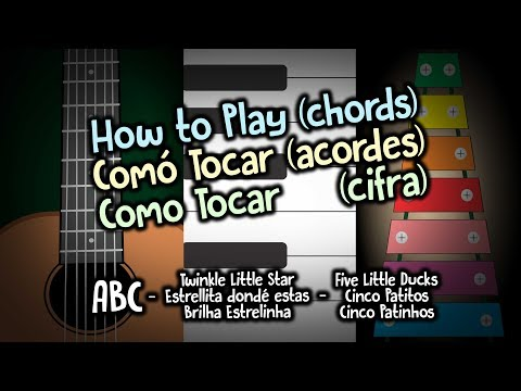 how-to-play-(chords)-|-#1-abc---twinkle-little-star-|-keyboards-+-guitar-+-xylophone-|-4k