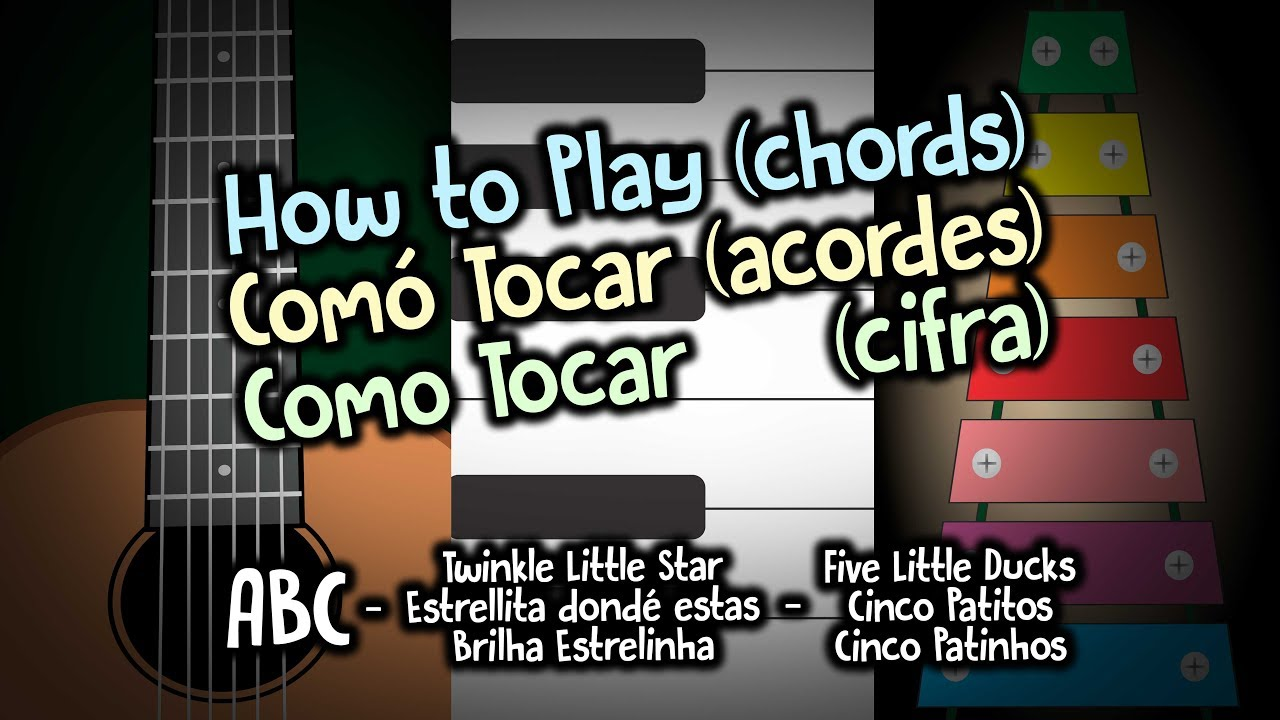 How To Play Chords 1 Abc Twinkle Little Star Keyboards