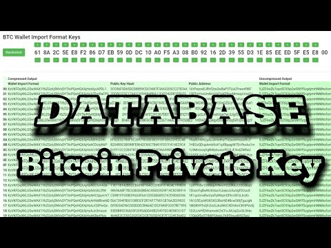 Database Bitcoin Private key