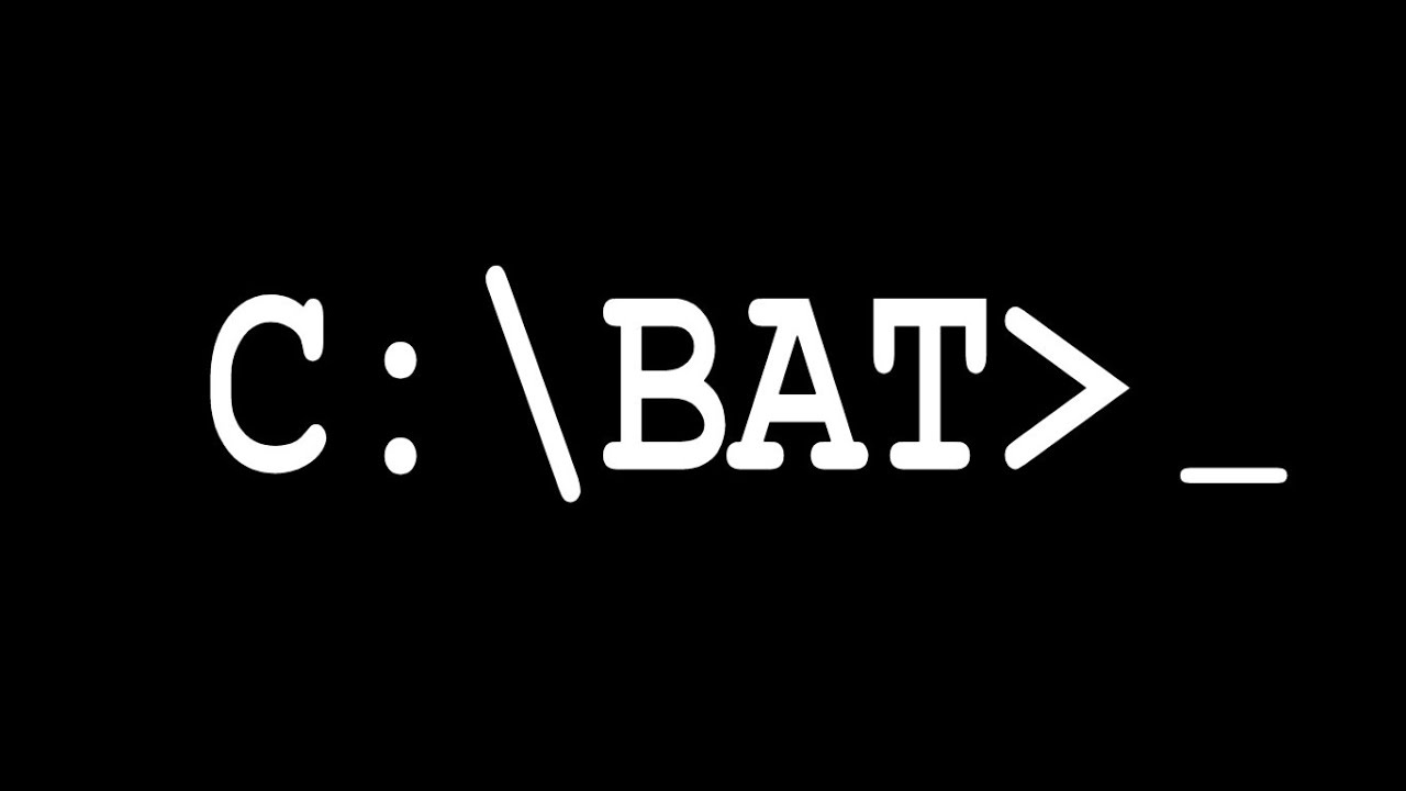 how to create a batch file in command prompt