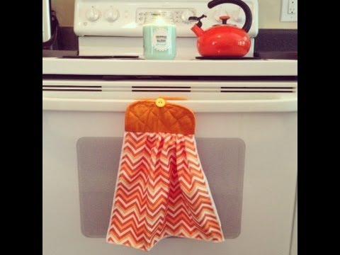 Dollar Tree Crafts: Pot Holder Dish Towel Sewing Tutorial