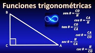 03. Trigonometría: Funciones trigonométricas en un triángulo rectángulo