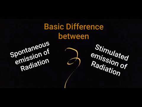 Difference between Spontaneous and Stimulated Emission of Radiation