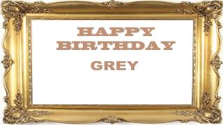 Grey   Birthday Postcards & Postales - Happy Birthday