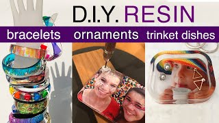 Resin Tutorial - Bracelets, Ornaments, Trinket Dishes - Double-Sided Silicone Molds - Jewelry, decor