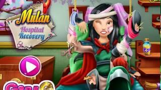 Princess Mulan was in the hospital  Cartoon game