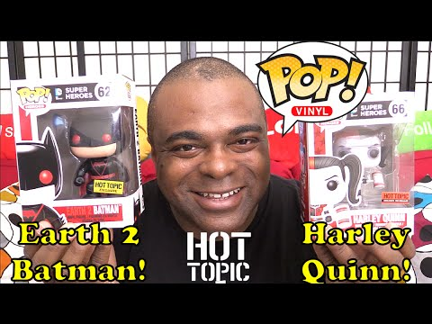 Funko Pop Vinyl EARTH 2 BATMAN & HARLEY QUINN ROLLER DERBY Unboxing & Review! [Hot Topic Exclusive]