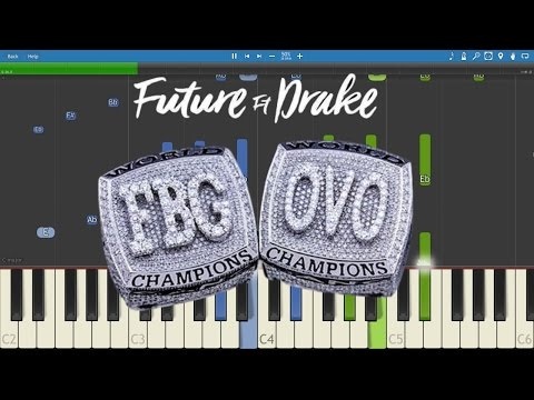 Future ft. Drake - Used To This - Piano Tutorial