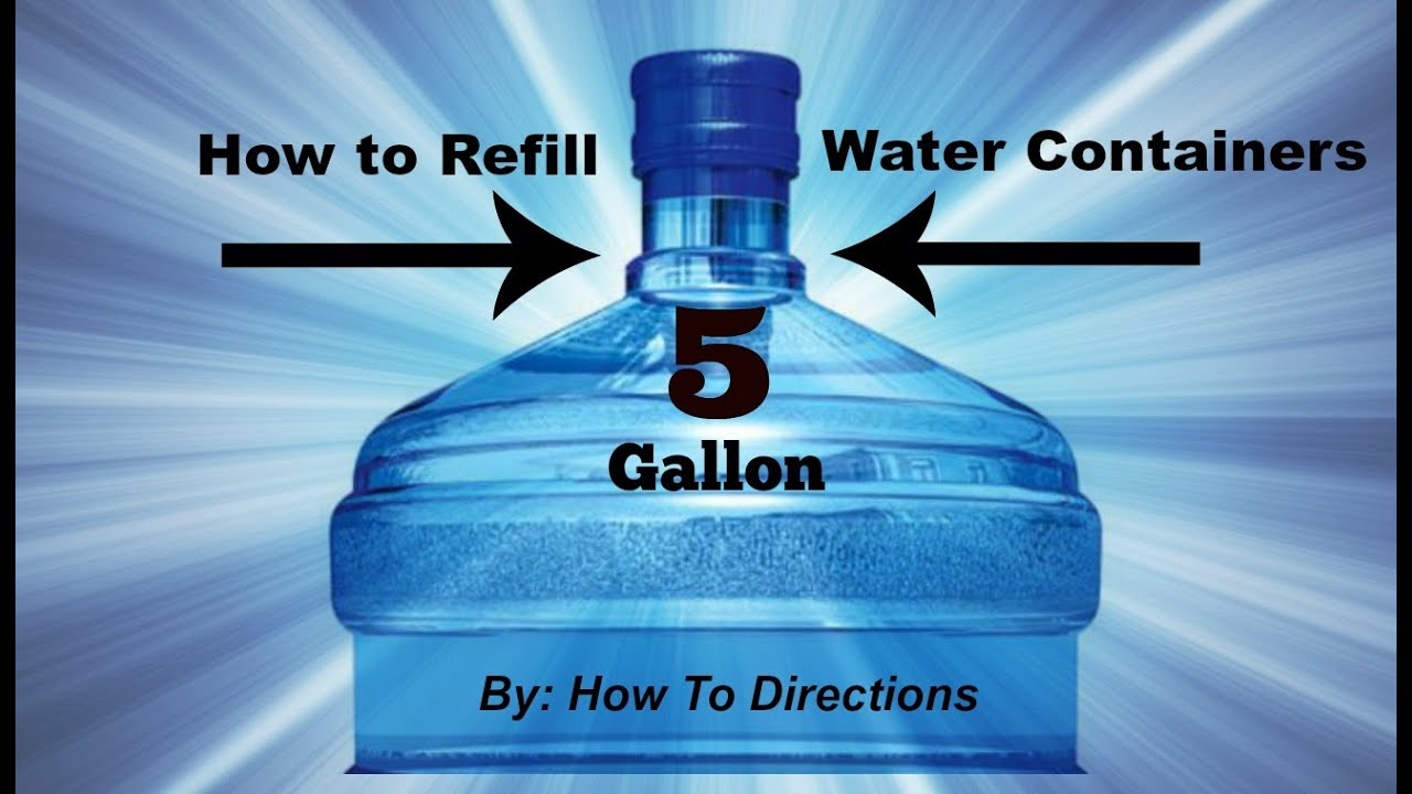 How To Refill Primo 5 Gallon Water Containers Youtube