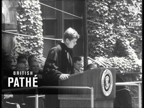 Kennedy Speaks On U.S. Domestic Policy (1962)