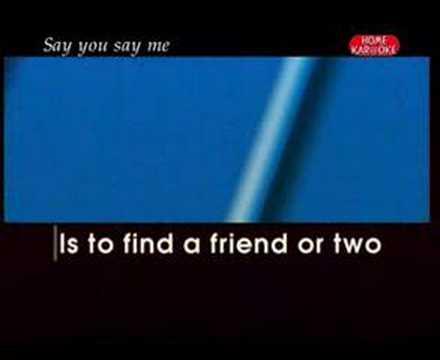 Lionel Richie - Say you say me (karaoke)