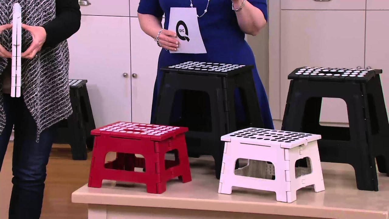 Kikkerland Large Small Easy Fold Step Stools On Qvc