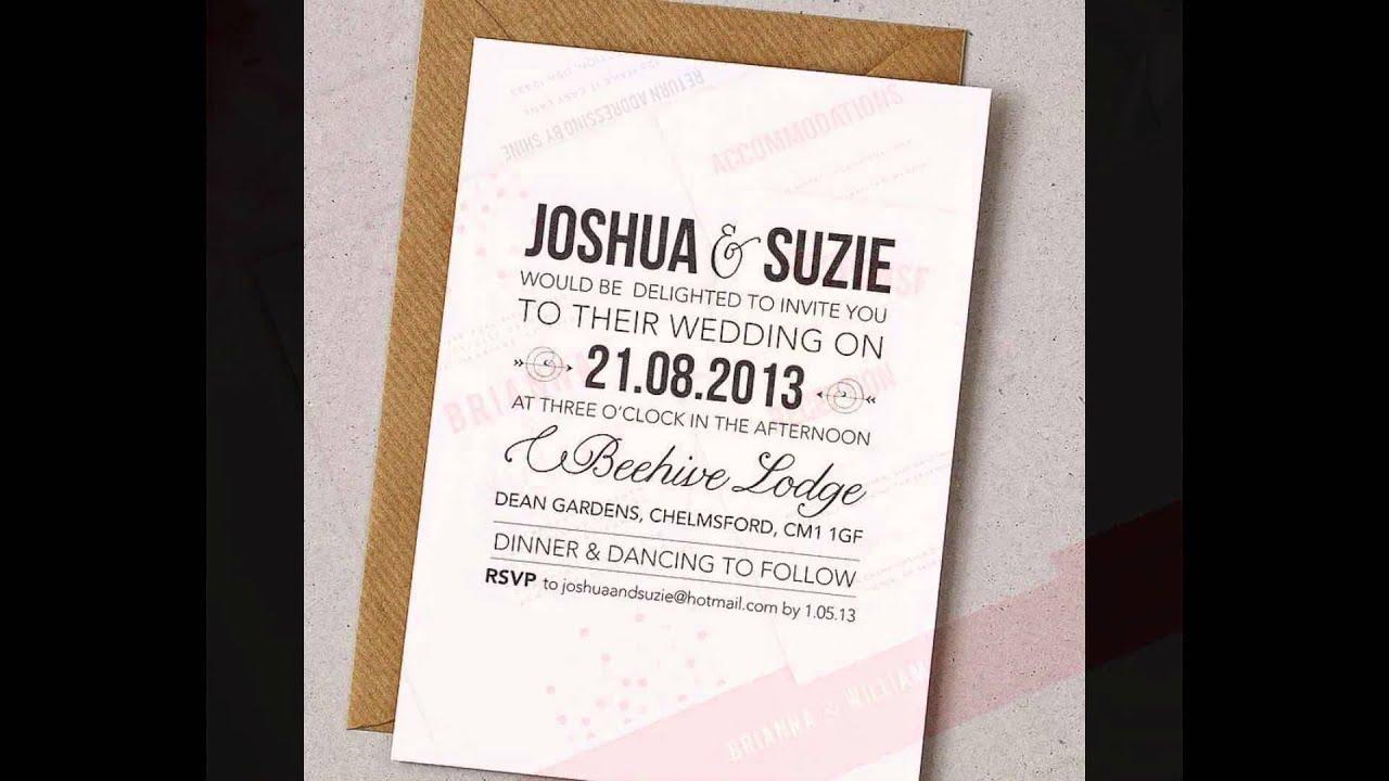 wedding invitations cheap and diy wedding invitations youtube