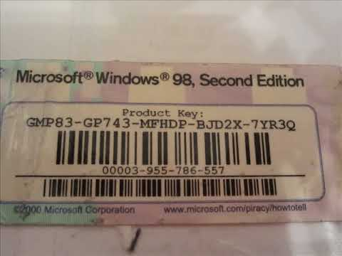windows 98 product key number