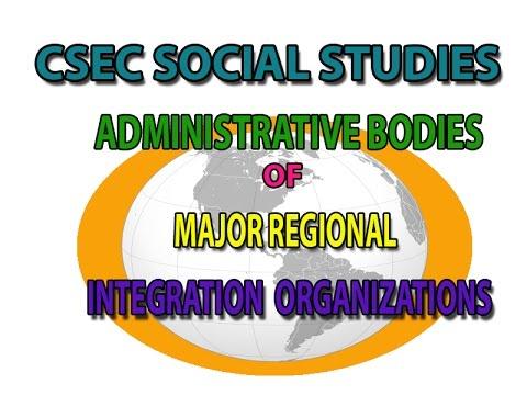 Administrative bodies of MRIO (CSEC LECTURE SERIES)