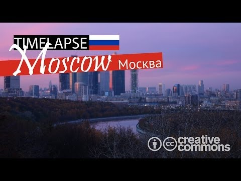Moscow City Skyline | Evening (TIME LAPSE 4K) - Moscow, Russia