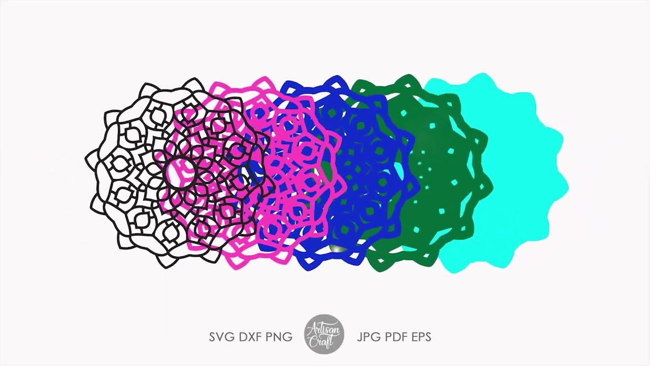 Download Layered mandala SVG, layered design - YouTube