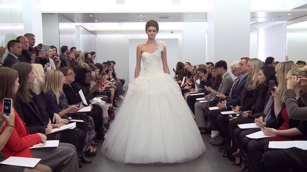 b038f7515c30b Vera Wang Fall 2013 Bridal Collection Runway Video - YouTube