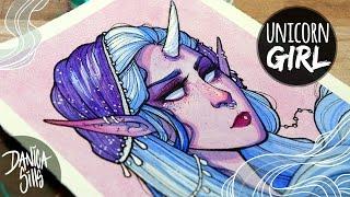 Unicorn Girl ♥ Art Shop : http://store.danicasills.com ♢ MATERIALS ...
