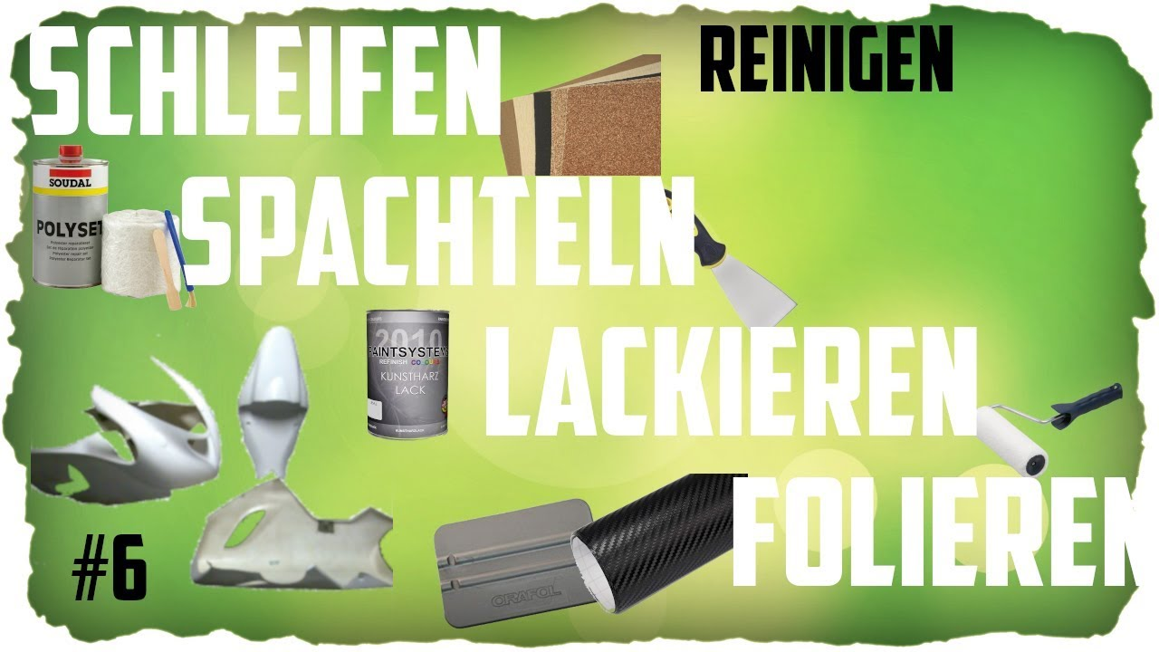 schleifen spachteln und lackieren teil 6 reinigen gfk rennverkleidung aufbereiten aufbauen youtube. Black Bedroom Furniture Sets. Home Design Ideas