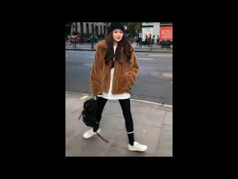 Asian Cute Woman With Fur Coats
