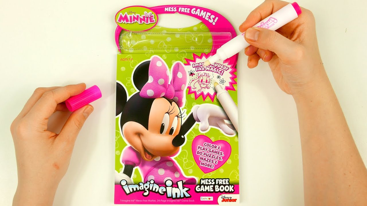 coloring with minnie mouse imagine ink mess free book for kids
