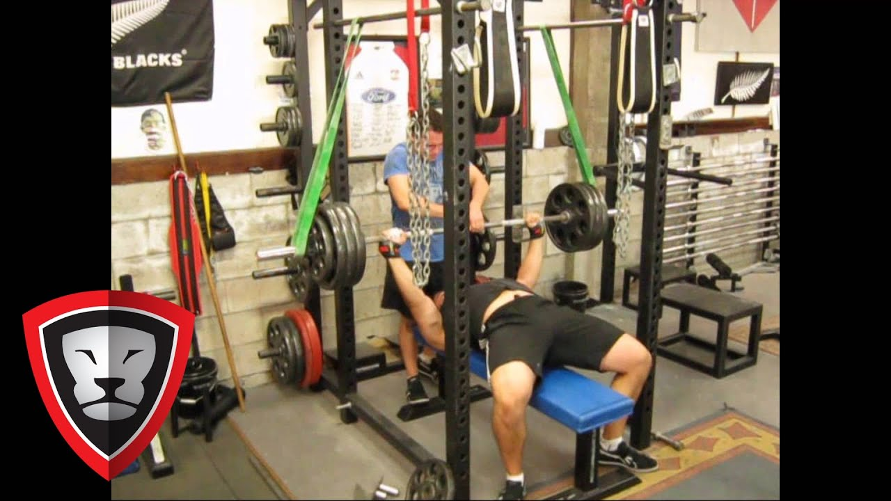 Strength Bands Reverse Band Bench Press Youtube