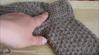 Вывязывание пятки на носке 1-й способ. Как вязать пятку. Легко и просто.