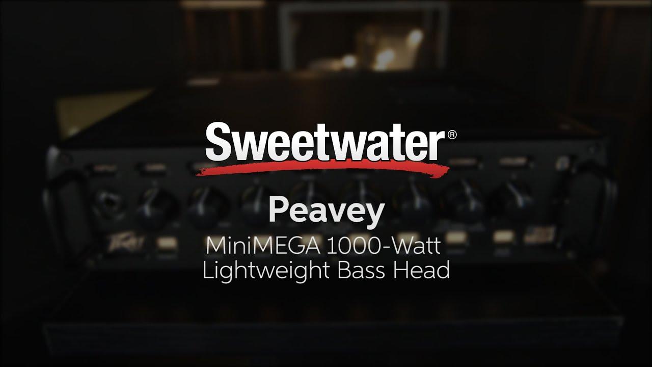 Peavey MiniMEGA 1000-Watt Lightweight Bass Head | Sweetwater