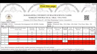 muhs online practical marks submission full demo v1