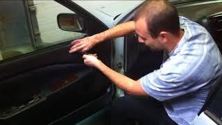 Как снять обшивку (карту) двери Toyota Corona Premio. Как снять стекло Toyota Corona Premio