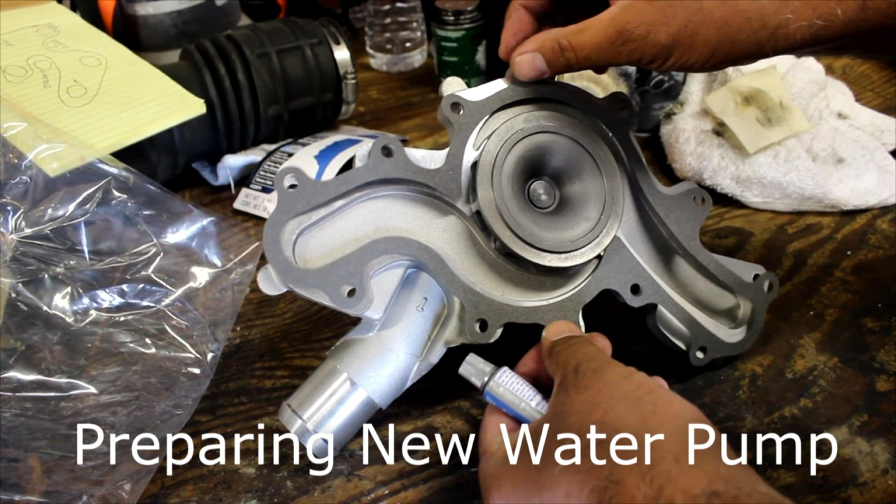 2005 ford mustang 4 liter v6 water pump replacement [ 1280 x 720 Pixel ]