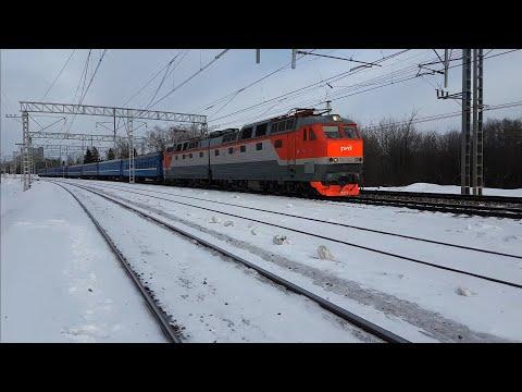 ЧС7 с поездом #75 Москва-Брест (Гомель), перегон Кунцево-1 -Одинцово