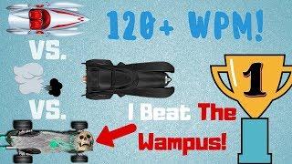 i beat the wampus nitro type gameplay 121 wpm