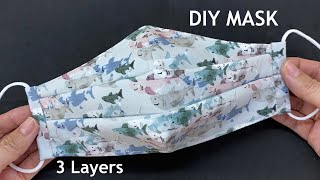 New Style 3 Layers Mask Diy Breathable 3D Face Mask No Fog On Glasses Easy Pattern Sewing Tutorial
