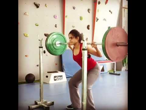 Neha Mahajan's Monday Workout :  WIDE STANCE BARBELL SQUAT