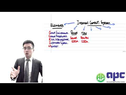 ACCA P1 internal control system
