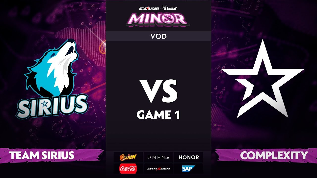 [RU] Team Sirius vs Complexity, Game 1, StarLadder ImbaTV Dota 2 Minor S2 Group Stage