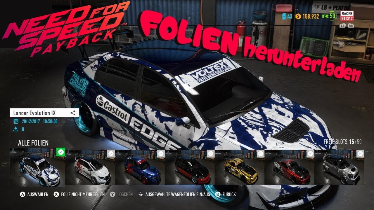 need for speed payback folien