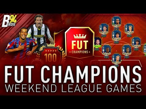 FUT Champions Weekend League Games!!! - Aiming For Elite With New Icons!!! - FIFA 18 LIVE