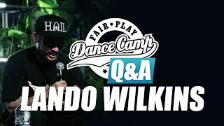 Q&A | Lando Wilkins: 'The day my brother was born was a real treat' | Fair Play Dance Camp 2017